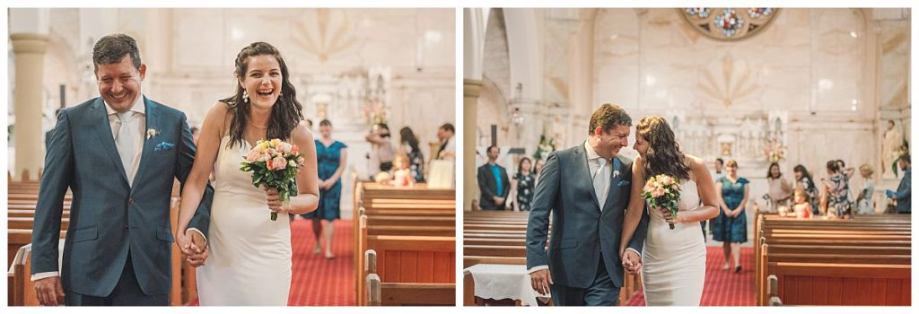 newly-married-couple-the-Sacred-Hearts-Catholic-Church-in-Mosman-wedding-ceremony-photo