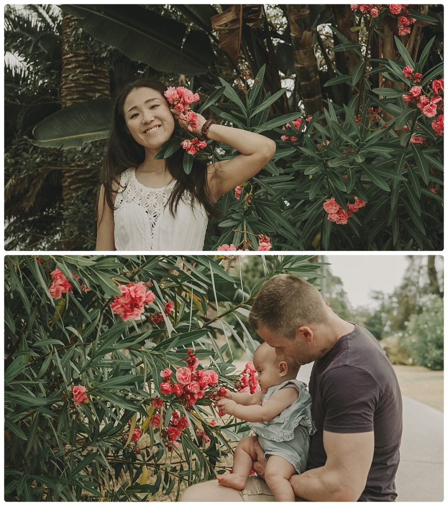 sydney-family-enjoys-greenery-and-flowers-background-photo