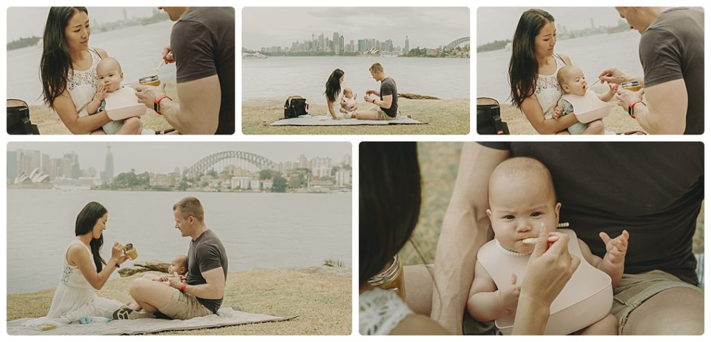 family-picnic-sydney-city-on-background-video