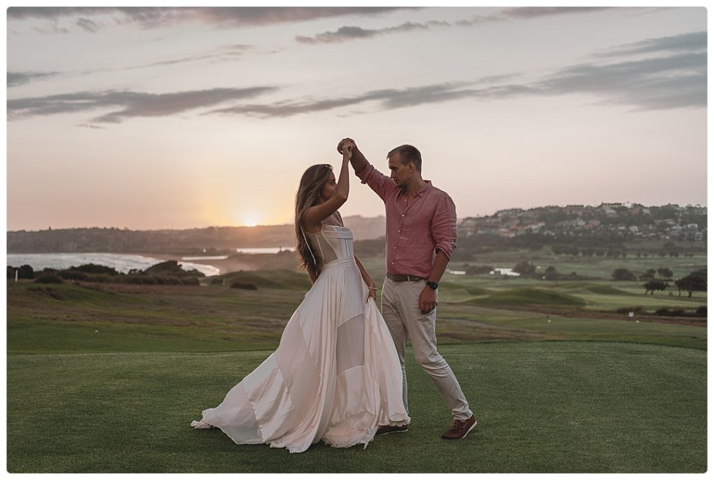 newly-married-couple-dance-on-the-golf-course-grounds-photo
