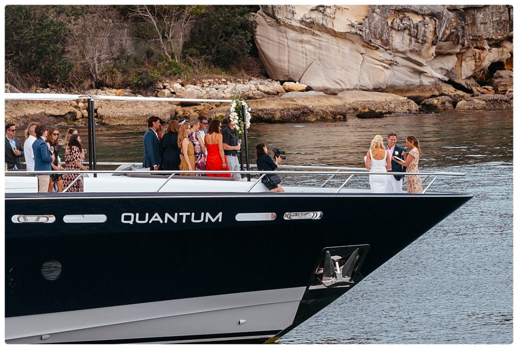 sydney luxury wedding yacht elopement photo
