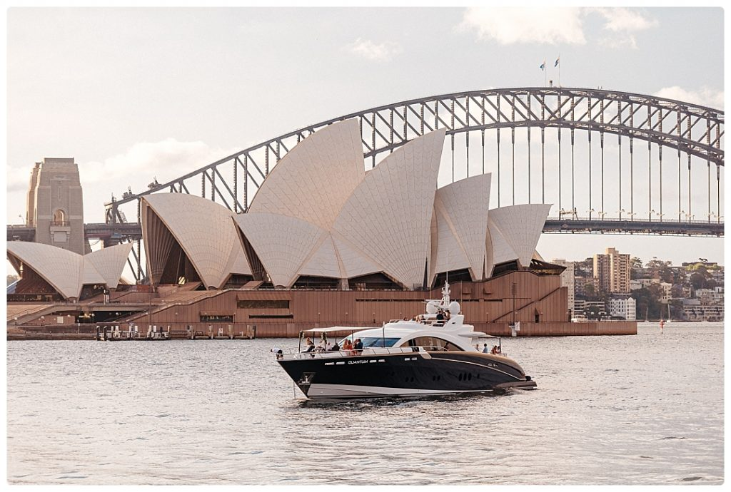 sydney opera house wedding photo