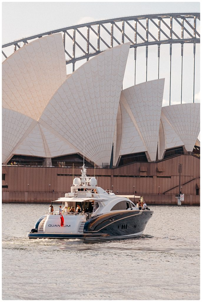 luxury yacht sydney opera house elopement
